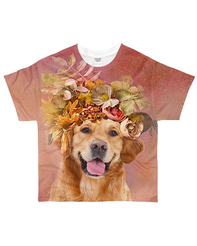 Golden Retrievers Flower
