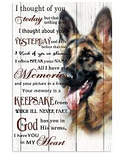 German Shepherd I Throught Of you 11x17 Poster front