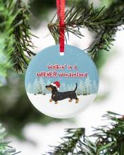 Dachshund Walking In A Wiener Wonderland Circle ornament - single (porcelain) aos-circle-ornament-single-porcelain-lifestyles-07