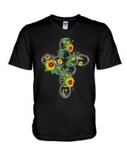 Horse Flower V-Neck T-Shirt thumbnail