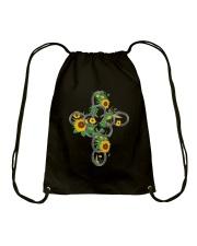 Horse Flower Drawstring Bag thumbnail