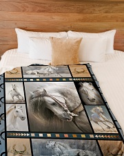 """Horse  Funny Blanket Beauty Graphic Design Large Fleece Blanket - 60"""" x 80"""" aos-coral-fleece-blanket-60x80-lifestyle-front-02"""