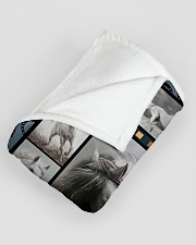"""Horse  Funny Blanket Beauty Graphic Design Large Fleece Blanket - 60"""" x 80"""" aos-coral-fleece-blanket-60x80-lifestyle-front-07"""