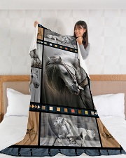 """Horse  Funny Blanket Beauty Graphic Design Large Fleece Blanket - 60"""" x 80"""" aos-coral-fleece-blanket-60x80-lifestyle-front-11"""