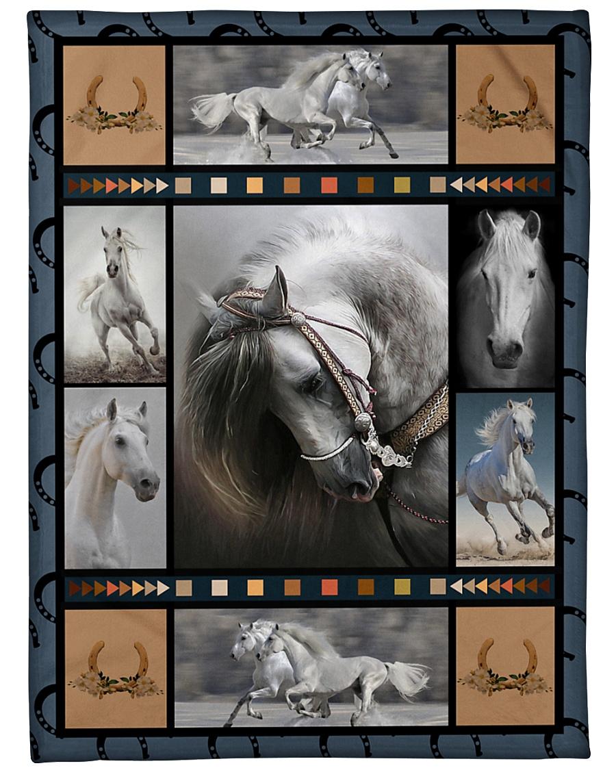 "Horse  Funny Blanket Beauty Graphic Design Large Fleece Blanket - 60"" x 80"""