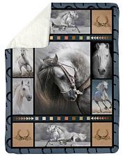 "Horse  Funny Blanket Beauty Graphic Design Large Sherpa Fleece Blanket - 60"" x 80"" thumbnail"