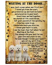 Bichon Frise Waiting At The Door 11x17 Poster front