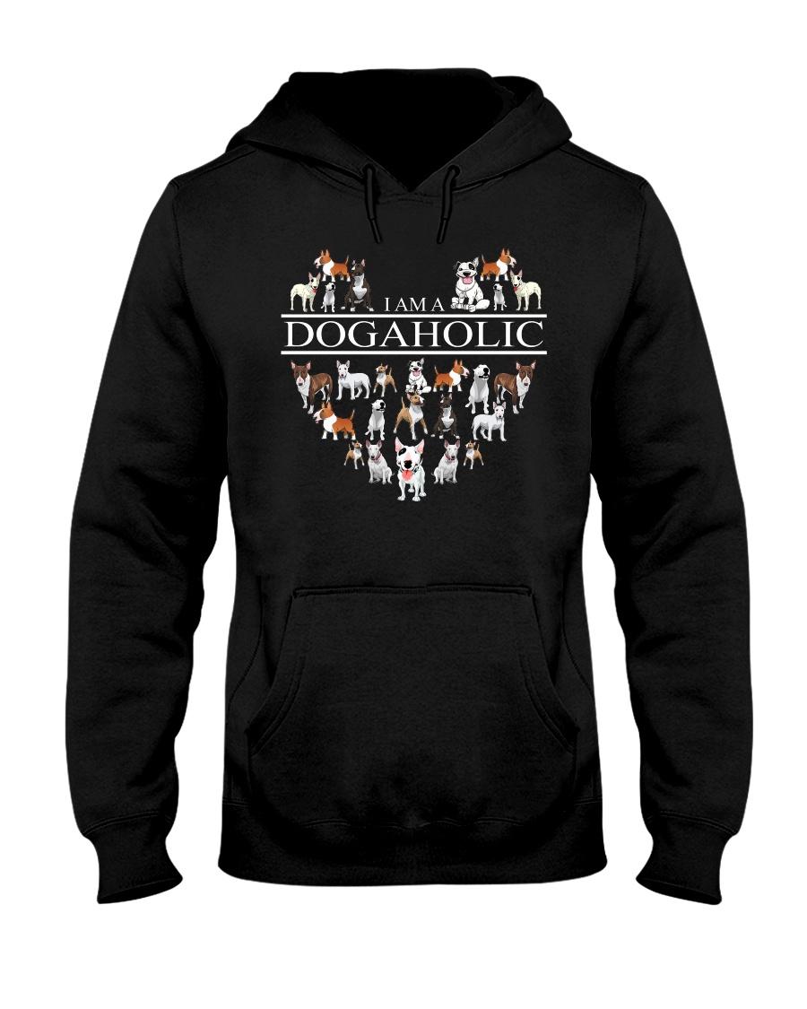 Bull terrier - I AM A Dogaholic Hooded Sweatshirt