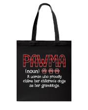 Dog Pawma Tote Bag thumbnail