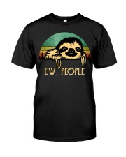 Sloth Ew People Classic T-Shirt front