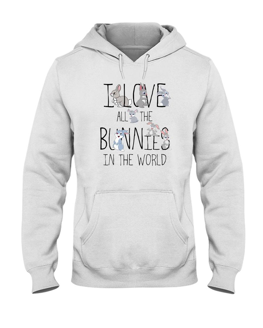 I love all the bunnies Hooded Sweatshirt