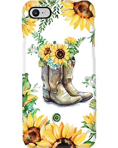 Horse Boot Sunflower Phonecase