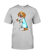 Beagle I Love Dad Classic T-Shirt front