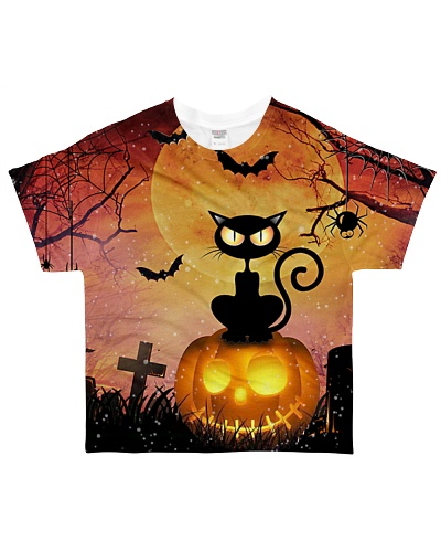 Cat Pumpkin At Night