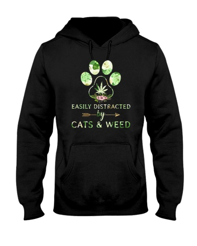 Easily Distracted By Cats And Weed
