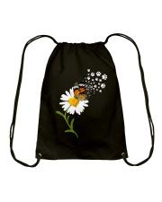 Dog Daisy Butterfly Drawstring Bag thumbnail
