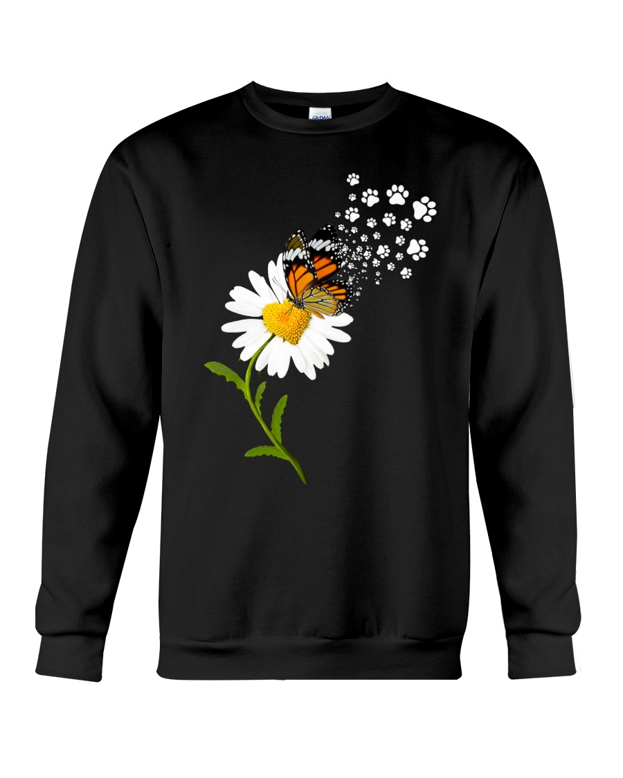 Dog Daisy Butterfly Crewneck Sweatshirt