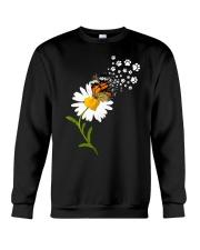Dog Daisy Butterfly Crewneck Sweatshirt front