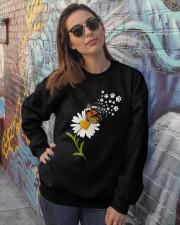 Dog Daisy Butterfly Crewneck Sweatshirt lifestyle-unisex-sweatshirt-front-3