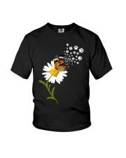 Dog Daisy Butterfly Youth T-Shirt thumbnail