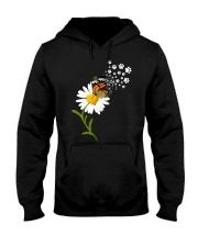 Dog Daisy Butterfly Hooded Sweatshirt thumbnail