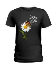 Dog Daisy Butterfly Ladies T-Shirt thumbnail