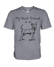 My best friend is Chihuahua  V-Neck T-Shirt thumbnail