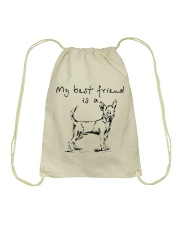My best friend is Chihuahua  Drawstring Bag thumbnail