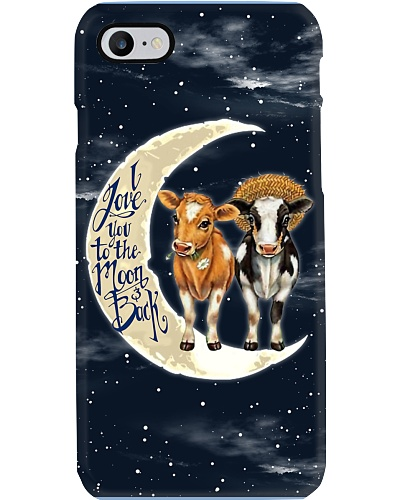 Cow I Love You To The Moon And Back Phonecase