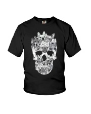 French Bulldog Skull Youth T-Shirt thumbnail