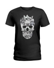 French Bulldog Skull Ladies T-Shirt thumbnail