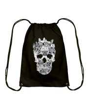 French Bulldog Skull Drawstring Bag thumbnail