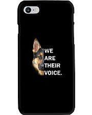 German Shepherd We Are Their Voice Phone Case thumbnail