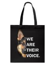 German Shepherd We Are Their Voice Tote Bag thumbnail