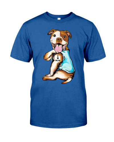 Staffordshire Bull Terrier I Love Mom