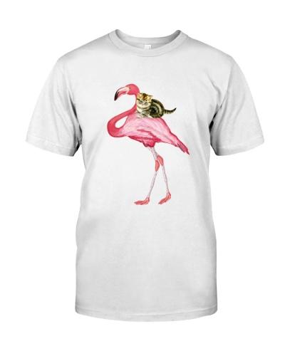 Flamingo And Cat