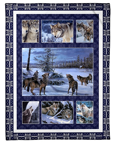 Wolf Funny Blanket Winter Graphic Design