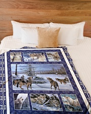 "Wolf Funny Blanket Winter Graphic Design Large Fleece Blanket - 60"" x 80"" aos-coral-fleece-blanket-60x80-lifestyle-front-02"