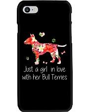 A Girl Love Bull Terrier Phone Case thumbnail