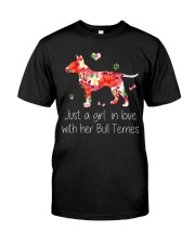 A Girl Love Bull Terrier Classic T-Shirt thumbnail