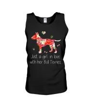 A Girl Love Bull Terrier Unisex Tank thumbnail