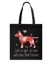 A Girl Love Bull Terrier Tote Bag thumbnail