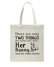 Bunny Two Things Can't Resist Tote Bag thumbnail