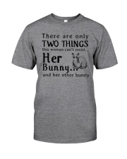 Bunny Two Things Can't Resist Classic T-Shirt front