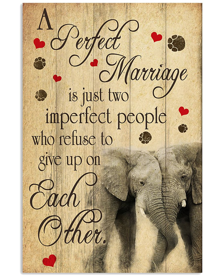 A Perfect Marriage Elephant Poster  11x17 Poster