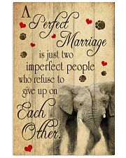A Perfect Marriage Elephant Poster  11x17 Poster front