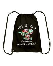 Life Is Good Elephant Makes It Better Drawstring Bag thumbnail