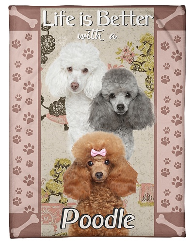 Poodle Funny Life Is Better Graphic Design
