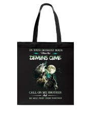 Wolf In Your Darknest Hour Tote Bag thumbnail