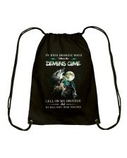 Wolf In Your Darknest Hour Drawstring Bag thumbnail